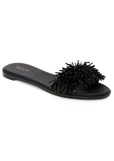 Rachel Zoe Raz Leather Fringed Sandals