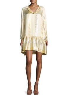 Rachel Zoe Roe Metallic Jacquard Shift Dress