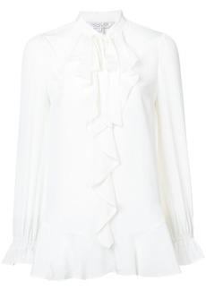 Rachel Zoe ruffle trim blouse - White