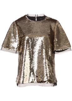 Rachel Zoe sequinned blouse - Metallic