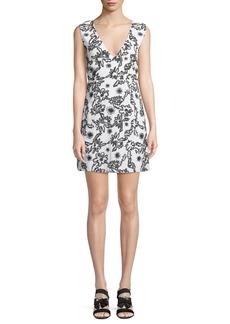 Rachel Zoe Shari Squiggle Sleeveless Mini Dress