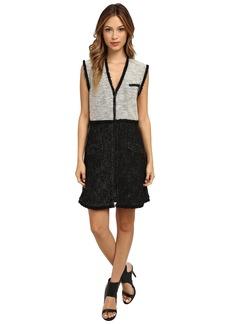 Rachel Zoe Shelby Tweed Zip Front Dress