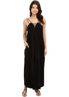 Rachel Zoe Sybilla Pleated Lace-Up Maxi