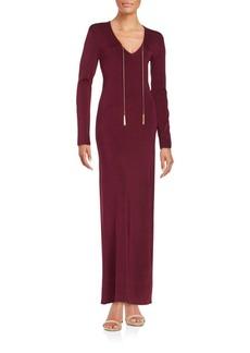 Rachel Zoe Tassel-Detailed Silk Maxi Dress