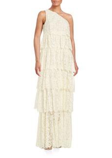 Rachel Zoe Tiered Lace Gown