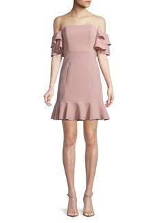 Rachel Zoe Tracy Off-The-Shoulder A-Line Dress