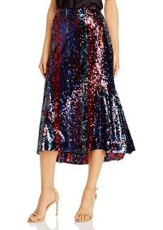 Rachel Zoe Venice Sequined Midi Skirt
