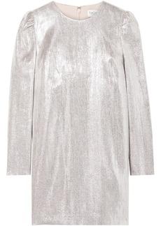 Rachel Zoe Woman Ami Metallic Woven Mini Dress Silver