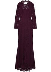 Rachel Zoe Woman Angie Cutout Corded Lace Gown Grape