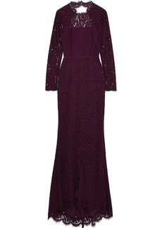 Rachel Zoe Woman Angie Cutout Corded Lace Gown Grape