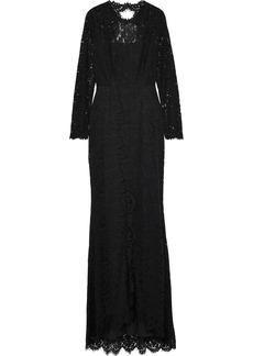 Rachel Zoe Woman Angie Cutout Corded Lace Gown Black