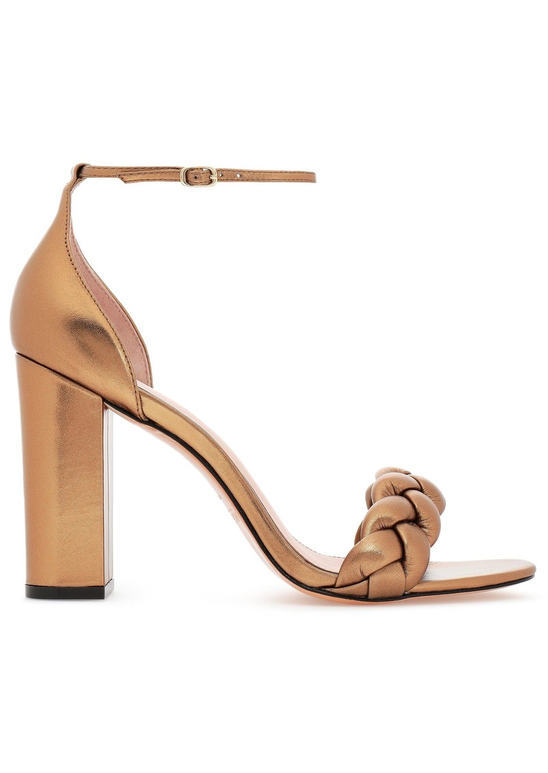 Rachel Zoe Woman Braided Metallic Leather Sandals Gold