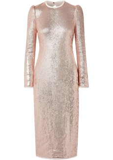 Rachel Zoe Woman Caden Asymmetric Floral-print Silk-georgette Dress Rose Gold