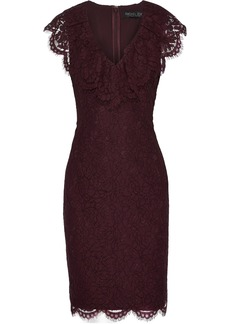 Rachel Zoe Woman Daisy Ruffle-trimmed Corded Lace Dress Grape
