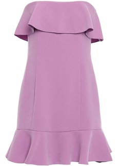 Rachel Zoe Woman Elaina Strapless Ruffled Crepe Mini Dress Lavender