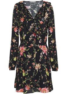 Rachel Zoe Woman Floral-print Voile Mini Dress Black