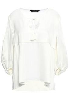 Rachel Zoe Woman Gathered Satin-crepe Blouse Off-white