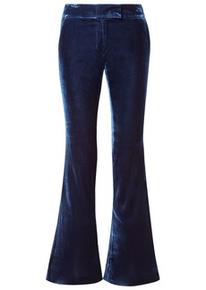 Rachel Zoe Woman Hall Velvet Flared Pants Navy