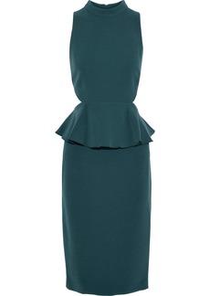 Rachel Zoe Woman Karyn Cutout Crepe Peplum Dress Petrol
