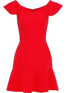 Rachel Zoe Woman Kennedy Fluted Crepe Mini Dress Red