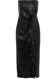 Rachel Zoe Woman Krista Strapless Sequined Tulle Midi Dress Black