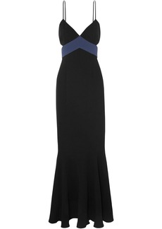 Rachel Zoe Woman Marissa Cutout Two-tone Crepe Gown Black