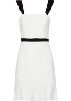 Rachel Zoe Woman Michele Ruffle-trimmed Cady Mini Dress White
