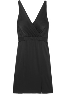 Rachel Zoe Woman Norah Wrap-effect Satin-crepe Dress Black