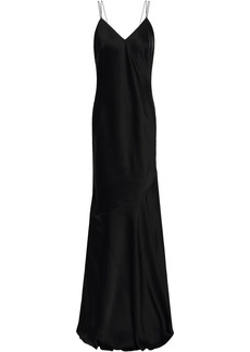 Rachel Zoe Woman Open-back Satin-crepe Maxi Slip Dress Black