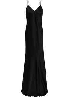 Rachel Zoe Woman Open-back Satin-crepe Maxi Slip Dress Black