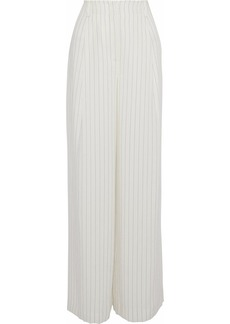 Rachel Zoe Woman Pinstriped Gauze Wide-leg Pants Ecru