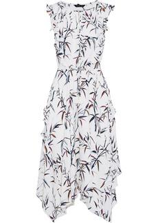 Rachel Zoe Woman Pippa Ruffle-trimmed Printed Silk Crepe De Chine Midi Dress White