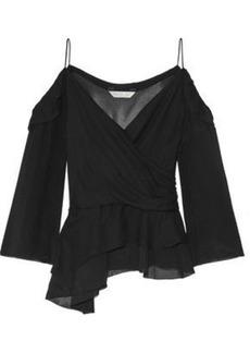 Rachel Zoe Woman Renee Off-the-shoulder Silk-georgette Top Black