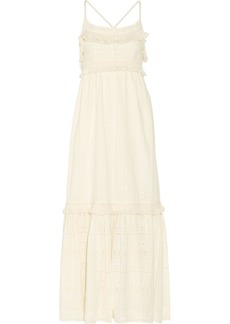 Rachel Zoe Woman Riley Fringed Broderie Anglaise Cotton Maxi Dress Ecru