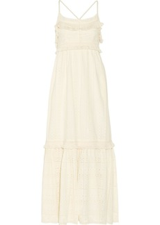 Rachel Zoe Woman Riley Fringed Broderie Anglaise Cotton Maxi Dress Ecru
