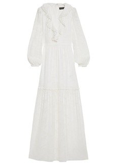 Rachel Zoe Woman Ruffled Devoré-chiffon Maxi Dress Ecru