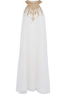 Rachel Zoe Woman Sabrina Embellished Chiffon Midi Dress Ecru