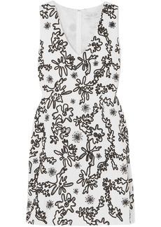 Rachel Zoe Woman Shari Embellished Cotton-gauze Mini Dress White
