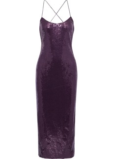 Rachel Zoe Woman Sistine Sequined Chiffon Midi Dress Purple
