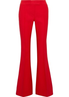 Rachel Zoe Woman Sofia Grosgrain-trimmed Woven Flared Pants Red