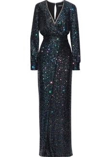 Rachel Zoe Woman Stellabella Wrap-effect Sequined Tulle Gown Multicolor