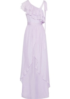 Rachel Zoe Woman Susanna Bow-detailed Ruffled Organza Gown Lilac