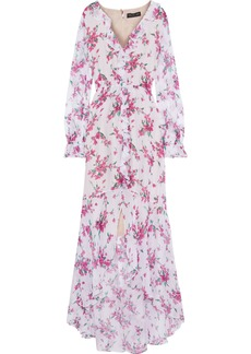 Rachel Zoe Woman Thea Ruffle-trimmed Floral-print Chiffon Maxi Dress White