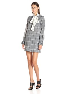 Rachel Zoe Women's Aspen Plaud Bow Neck Dress