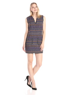 Rachel Zoe Women's Bay  Stripe Tweed Shift Dress