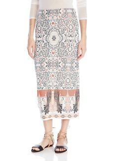 Rachel Zoe Women's Caleigh Floral Jacquard Skirt
