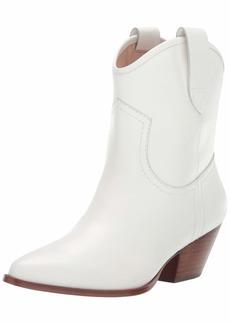 Rachel Zoe Women's Cameron Western Bootie Boot white  M US