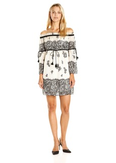 Rachel Zoe Women's Danica Printed Off Shoulder Dress