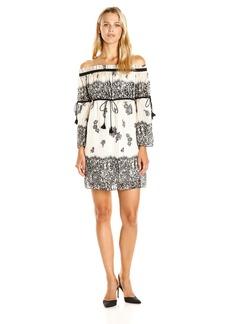 Rachel Zoe Women's Danica Printed Off Shoulder Dress