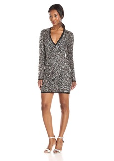 Rachel Zoe Women's Micah Longsleeve Vneck Sequin Dress